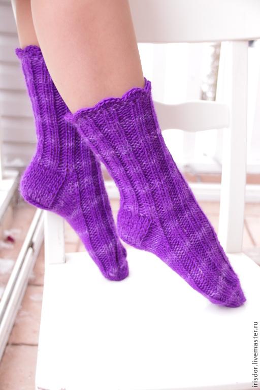 Носки женские вязаные. Разноцветное тепло. Носочки вязаные женские. Iris D`or. Irisdorknit