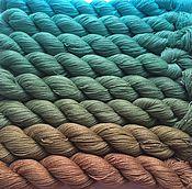 Материалы для творчества ручной работы. Ярмарка Мастеров - ручная работа Градиент. 70% кашемир, 30% шелк ручной окраски- From sea to sand. Handmade.