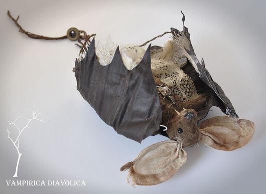 """Игрушки животные, ручной работы. Ярмарка Мастеров - ручная работа. Купить Летучая Мышь Винтажная игрушка """"Vampirica Diavolica"""". Handmade."""