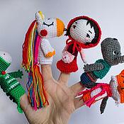 Кукольный театр ручной работы. Ярмарка Мастеров - ручная работа Кукольный театр: пальчиковая игрушка. Handmade.