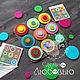 Educational game made of felt on magnets Funny circles, Puzzle, Vyborg,  Фото №1