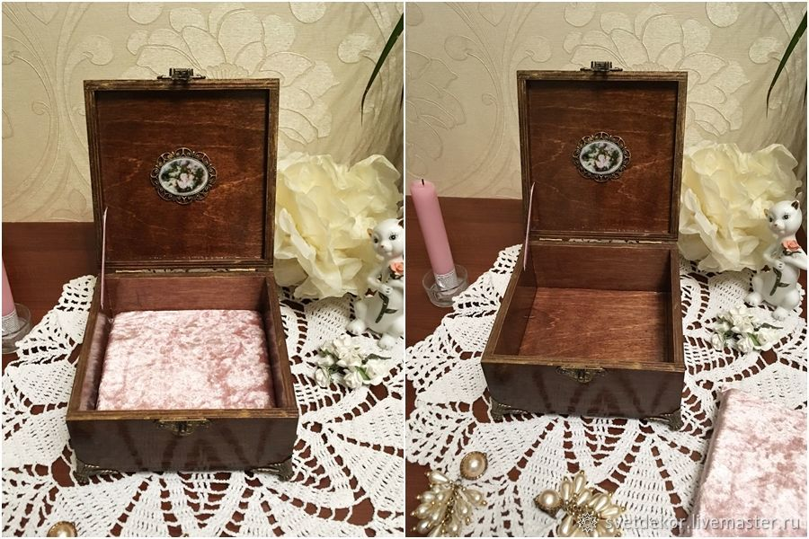 Jewelry box decoupage shop online on Livemaster with shipping