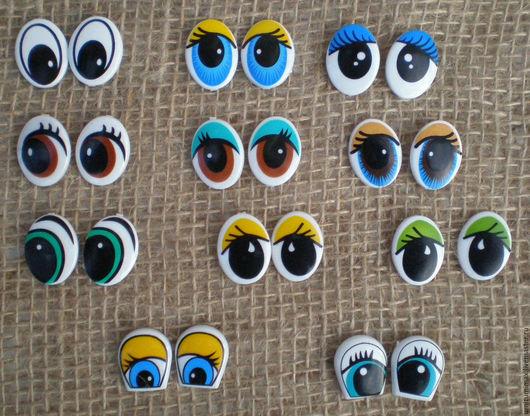 Куклы и игрушки ручной работы. Ярмарка Мастеров - ручная работа. Купить Пластиковые глазки.. Handmade. Комбинированный, Глаза, глаза для игрушек