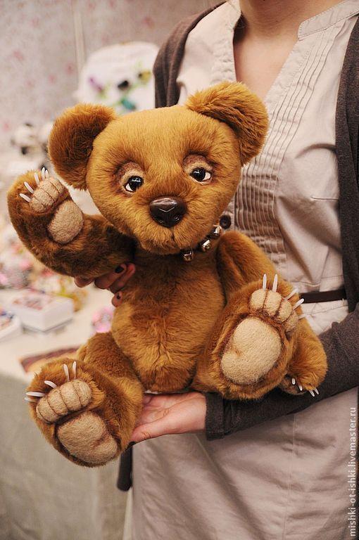 Мишки Тедди ручной работы. Ярмарка Мастеров - ручная работа. Купить медведь Хьюго. Handmade. Коричневый, медведь, натюр