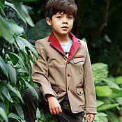 Одежда handmade. Livemaster - original item Sports warm Softshell jacket for boys with lapel.. Handmade.