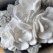 """Аксессуары ручной работы. Ярмарка Мастеров - ручная работа Шапочка """"Красивая зима"""". Handmade."""
