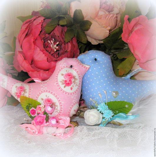 Куклы Тильды ручной работы. Ярмарка Мастеров - ручная работа. Купить Текстильные птички - подвески в стиле тильда. Handmade. Птица