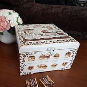 """Для дома и интерьера ручной работы. Ярмарка Мастеров - ручная работа Чайная коробка """"Пористый шоколад"""". Handmade."""