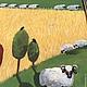 """Животные ручной работы. картина """"Овечки"""". Надежда Молонская (art-projectMN). Ярмарка Мастеров. Закат, темпера"""