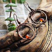"""Украшения ручной работы. Ярмарка Мастеров - ручная работа Серьги """"Проблеск"""". Handmade."""