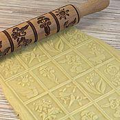 Для дома и интерьера handmade. Livemaster - original item Rolling pin with a pattern .Gingerbread
