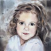 Картины и панно ручной работы. Ярмарка Мастеров - ручная работа Портрет на заказ 30х40 акварель. Handmade.
