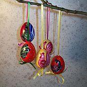 """Подарки к праздникам ручной работы. Ярмарка Мастеров - ручная работа Яички пасхальные """"Птички"""". Handmade."""