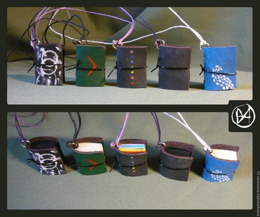 """Блокноты ручной работы. Ярмарка Мастеров - ручная работа. Купить Минатюрные блокноты подвески """"Россыпь"""". Handmade. Комбинированный, цветной, кулон"""
