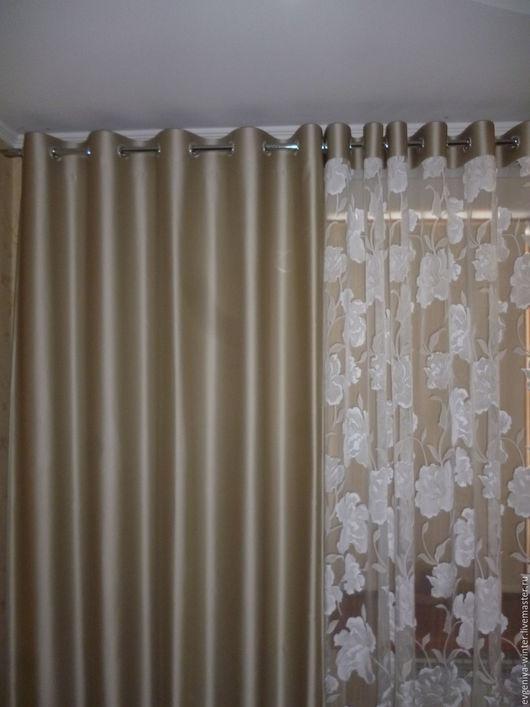 Текстиль, ковры ручной работы. Ярмарка Мастеров - ручная работа. Купить Шторы на люверсах. Handmade. Текстиль для дома, декор для дома