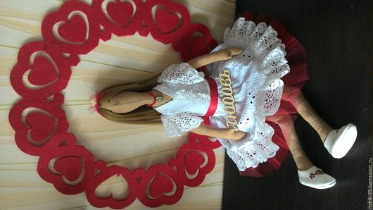 Куклы Тильды ручной работы. Ярмарка Мастеров - ручная работа. Купить Куколка с красивым именем ЛЮБОВЬ. Handmade. Ярко-красный