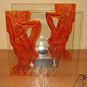Для дома и интерьера handmade. Livemaster - original item Table bio-fireplace with stained glass pattern
