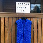 Одежда handmade. Livemaster - original item Blue vest for a girl. Handmade.