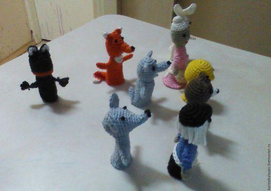 Кукольный театр ручной работы. Ярмарка Мастеров - ручная работа. Купить Пальчиковый театр. Handmade. Комбинированный, пальчиковые куклы