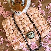 Сумка через плечо ручной работы. Ярмарка Мастеров - ручная работа Сумка через плечо: Персиковый Узор. Handmade.