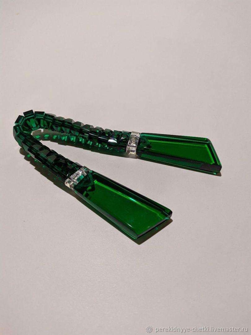 Rocker beads. Emerald and two transparent inserts, Name souvenirs, Nizhny Novgorod,  Фото №1