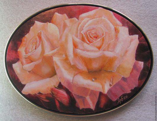 Картины цветов ручной работы. Ярмарка Мастеров - ручная работа. Купить Розы с бутонами. Handmade. Розы, купить картина
