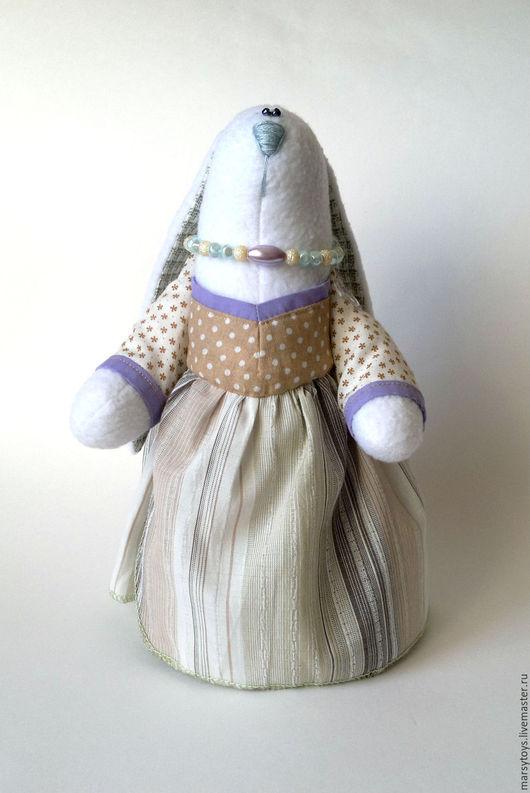 Игрушки животные, ручной работы. Ярмарка Мастеров - ручная работа. Купить Интерьерная текстильная игрушка Зайка Ира. Handmade. Бежевый