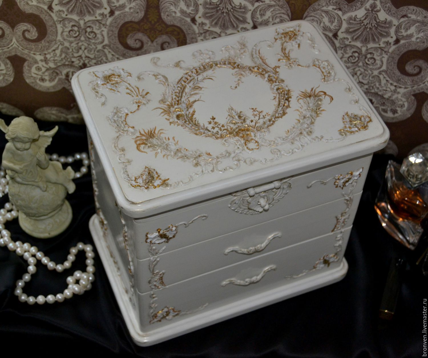 Chest of drawers for jewellery, wooden. Gift girl, Dressers, Moscow,  Фото №1