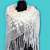 Аксессуары handmade. Livemaster - original item White knitted shawl with crochet hook Snow white.. Handmade.