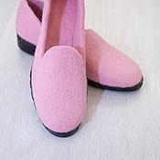 Обувь ручной работы. Ярмарка Мастеров - ручная работа Валяные туфли Розовый жемчуг. Handmade.