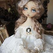 Dolls handmade. Livemaster - original item Mar. Textile collectible doll. white. Handmade.