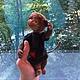 Мишки Тедди ручной работы. Тедди обезьянка Мама. Елена Разумкова (teddykot). Ярмарка Мастеров. Подарок, обезьянки, шарнирная игрушка