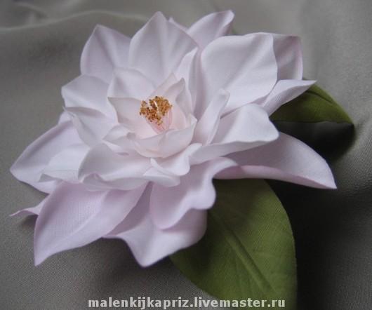 """Броши ручной работы. Ярмарка Мастеров - ручная работа. Купить Брошь """"Камелия Мари"""".. Handmade. Брошь, цветок из ткани"""