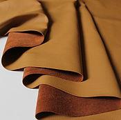 Материалы для творчества handmade. Livemaster - original item genuine leather of cattle. madras. Sand. 0,9-1,1 mm.. Handmade.