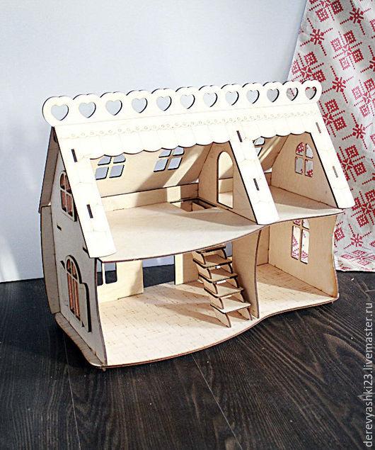 Кукольный дом ручной работы. Ярмарка Мастеров - ручная работа. Купить Кукольный домик. Handmade. Бежевый, домик для игры, домик