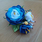 """Украшения ручной работы. Ярмарка Мастеров - ручная работа Заколка для волос """"Синяя роза"""". Handmade."""