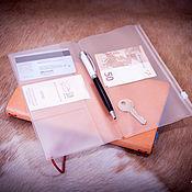 Канцелярские товары handmade. Livemaster - original item Zip folder - Folder for the notebook traveler. Handmade.