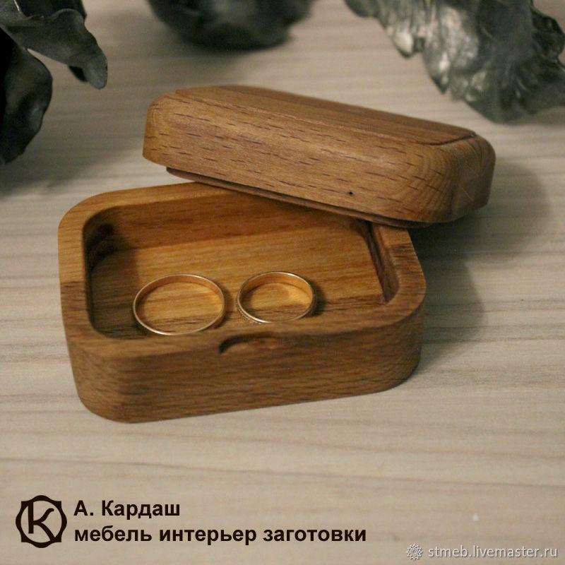 Короб из бука 8х6х4 см для колец, подарков, прочего, Шкатулки, Санкт-Петербург,  Фото №1