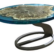 Для дома и интерьера handmade. Livemaster - original item Coffee table made of poplar in resin pouring. Handmade.