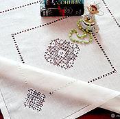 Для дома и интерьера handmade. Livemaster - original item Tablecloth linen hemstitch white embroidery 5 Kuban. Handmade.