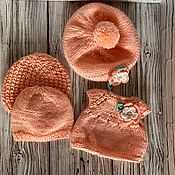 Куклы и игрушки handmade. Livemaster - original item Dresses and sweatshirts knitted for dolls. Handmade.