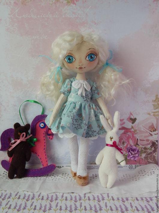 Коллекционные куклы ручной работы. Ярмарка Мастеров - ручная работа. Купить Кукла Мила. Handmade. Мятный, холлофайбер, флис
