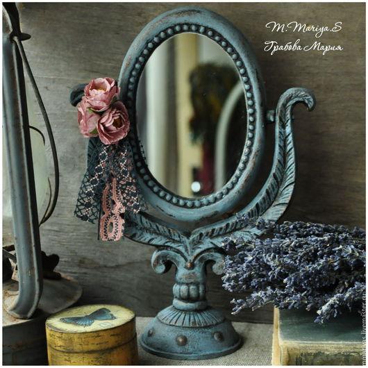 """Зеркала ручной работы. Ярмарка Мастеров - ручная работа. Купить Cтаринное зеркало """"Французский Шик """". Handmade. Подарок, розы"""