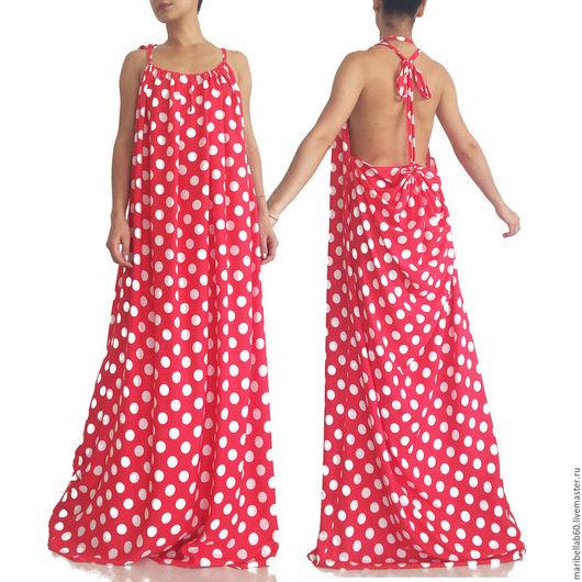 """Платья ручной работы. Ярмарка Мастеров - ручная работа. Купить Ретро платье в горошек - """"CACADU"""". Handmade. Комбинированный, большой размер, ретро"""