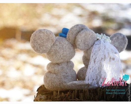 Игрушки животные, ручной работы. Ярмарка Мастеров - ручная работа. Купить Свадебные игрушки мышки авторские коллекционные. Handmade. Подарок