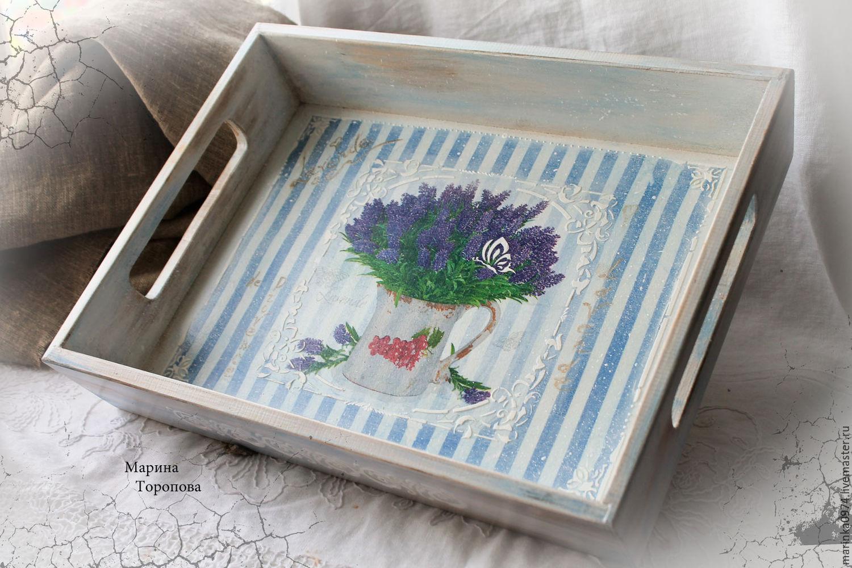 Tray ' Lavender. Provence', Trays, Krasnoyarsk,  Фото №1