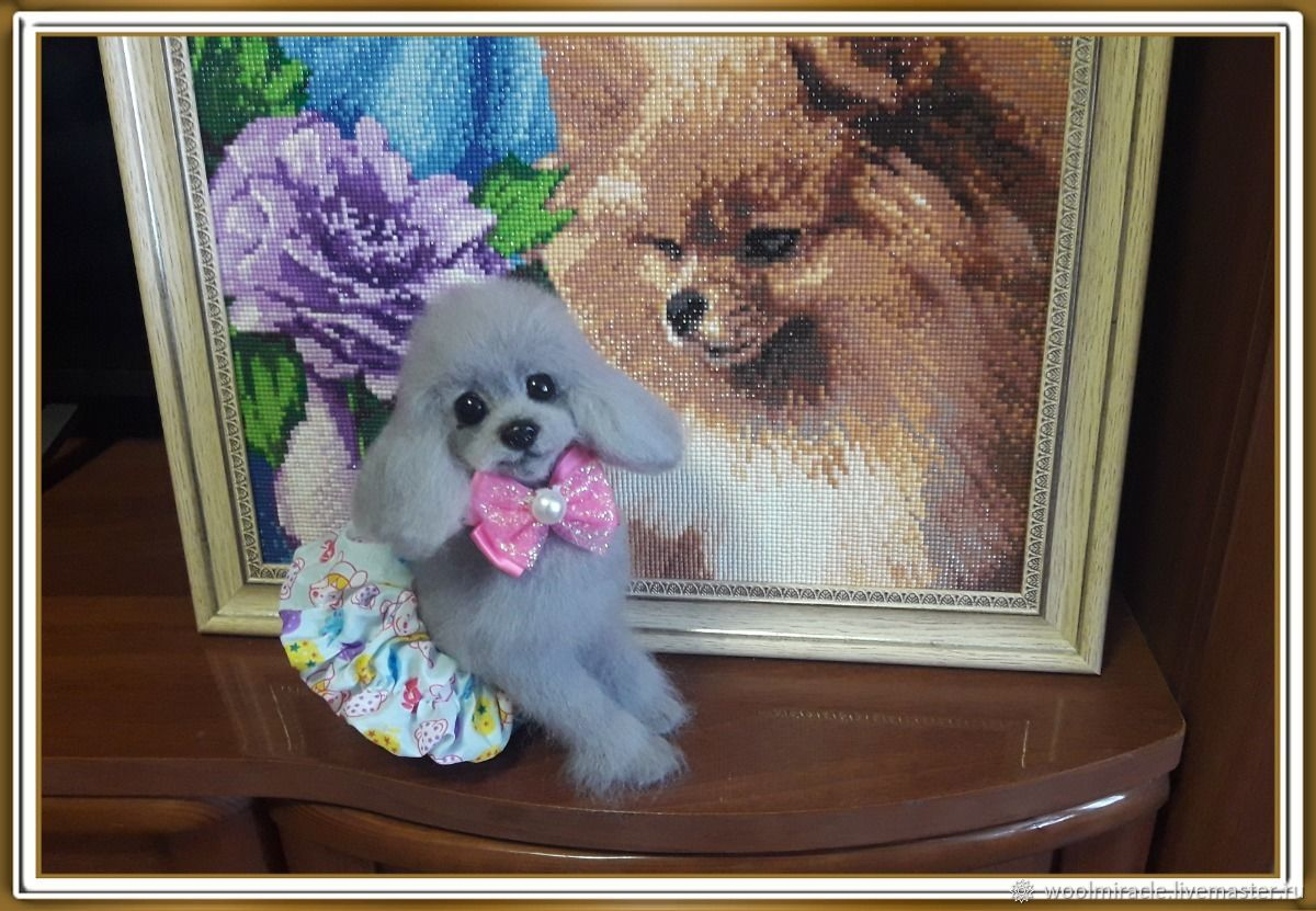 felt toy: GOOCHIE the Poodle, Felted Toy, Orsk,  Фото №1