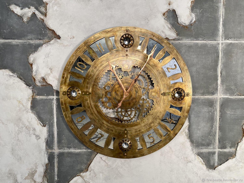 Часы настенные стальные, Часы классические, Москва,  Фото №1