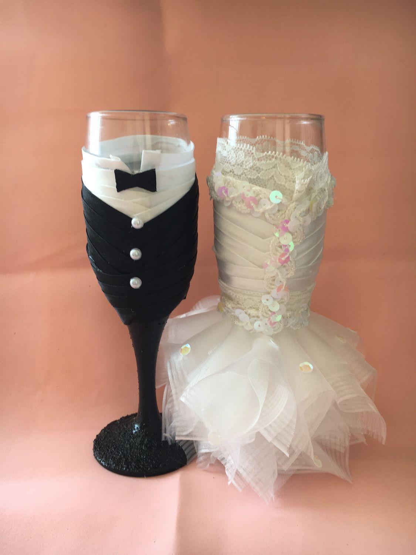 Бокалы жених и невеста мастер класс