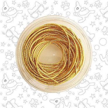 Материалы для творчества ручной работы. Ярмарка Мастеров - ручная работа Канитель бамбук 1.7 мм, золото. Handmade.